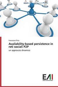 Availability-Based Persistence in Reti Sociali P2P