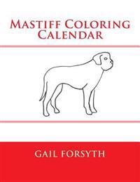 Mastiff Coloring Calendar