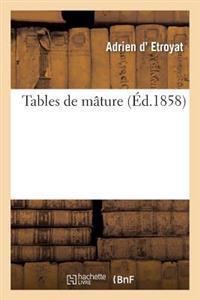 Tables de Mature