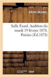 Salle Erard. Audition Du Mardi 19 Fevrier 1878. Poesies