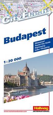 Budapest City Flash Hallwag stadskarta : 1:20000