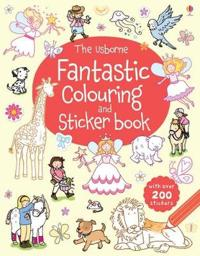 Usborne Fantastic Colouring and Sticker Book