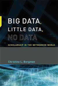 Big Data, Little Data, No Data