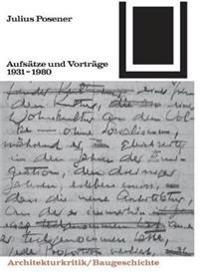 Aufsatze Und Vortrage 1931-1980