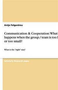 Communication & Cooperation