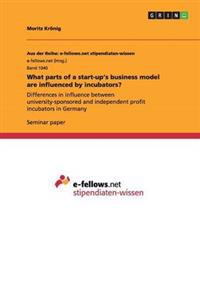 What Parts of a Start-Up's Business Model Are Influenced by Incubators?