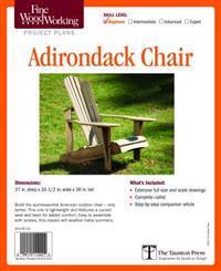 Fine Woodworking's Adirondack Chair Plan