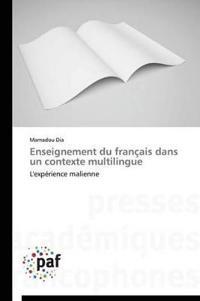 Enseignement Du Franaais Dans Un Contexte Multilingue