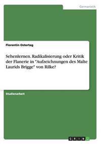 """Sehenlernen. Radikalisierung Oder Kritik Der Flanerie in """"Aufzeichnungen Des Malte Laurids Brigge"""" Von Rilke?"""
