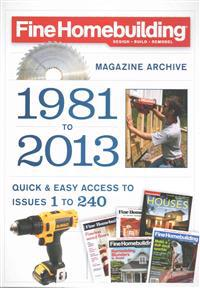 Fine Homebuilding Magazine Archive 1981 to 2013