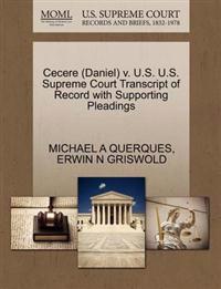 Cecere (Daniel) V. U.S. U.S. Supreme Court Transcript of Record with Supporting Pleadings
