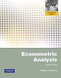Econometric Analysis