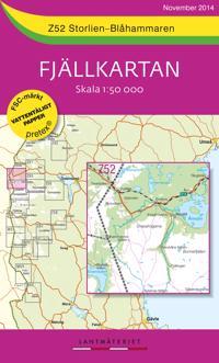 Z52 Storlien-Blåhammaren Fjällkartan : 1:50000