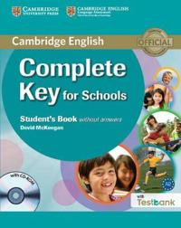 Complete Key for Schools Without Answers + Cd-rom With Testbank
