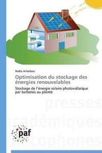 Optimisation Du Stockage Des �nergies Renouvelables