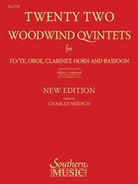 22 Woodwind Quintets - New Edition: Flute Part