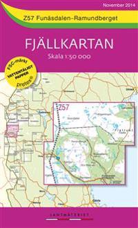 Z57 Funäsdalen-Ramundberget Fjällkartan : 1:50000