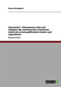 Chancenlos? - Dimensionen, Ziele Und Aufgaben Der Sozialraumlich Orientierten Arbeit Mit Armuts-Gefahrdeten Kindern Und Jugendlichen