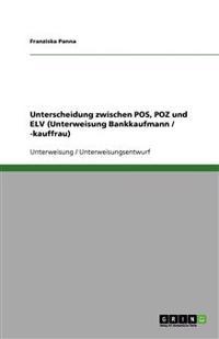 Unterscheidung zwischen POS, POZ und ELV (Unterweisung Bankkaufmann / -kauffrau)