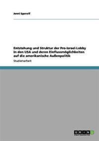 Entstehung Und Struktur Der Pro-Israel-Lobby in Den USA Und Deren Einflussmoglichkeiten Auf Die Amerikanische Auenpolitik