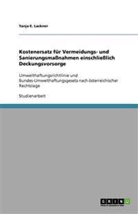 Kostenersatz für Vermeidungs- und Sanierungsmaßnahmen einschließlich Deckungsvorsorge