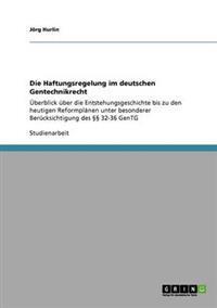 Die Haftungsregelung Im Deutschen Gentechnikrecht
