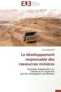 Le D�veloppement Responsable Des Ressources Mini�res