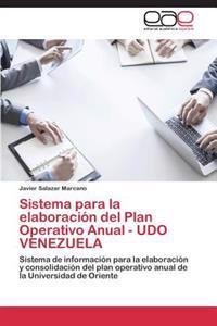 Sistema Para La Elaboracion del Plan Operativo Anual - Udo Venezuela