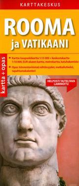 Rooma ja Vatikaani kartta + opas, 1:15 000/1:10 000