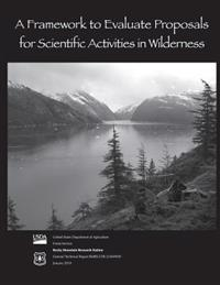 A Framework to Evaluate Proposals for Scientific Activities in Wilderness