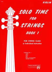 Solo Time for Strings, Bk 1: Violin