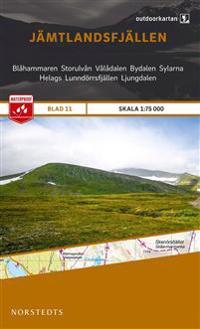 Outdoorkartan Jämtlandsfjällen : Blad 11 skala 1:75000