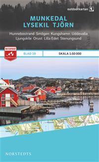 Outdoorkartan Munkedal Lysekil Tjörn : Blad 19 skala 1:50000