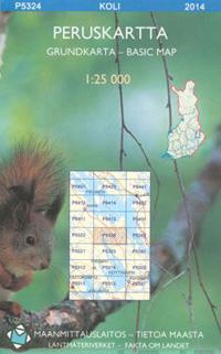 Peruskartta P5324 Koli 1:25 000