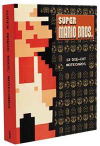 Super Mario Brothers 12 Die-Cut Notecards