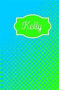 Kelly: Personalized Name Journal (Blue Green Dots)