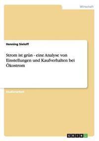 Strom Ist Grun - Eine Analyse Von Einstellungen Und Kaufverhalten Bei Okostrom