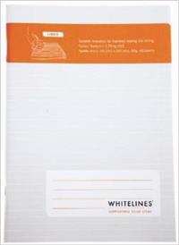 WHITELINES SADDLE STITCH A4 LINED NOTEBOOK