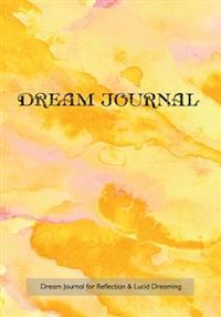 Dream Journal for Reflection and Lucid Dreaming: 7x10 Notebook with Carolina Sunset Watercolor Cover, Ideal Journal to Inspire Lucid Dreaming,, 202 Pa
