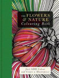 Flowers & nature colouring book