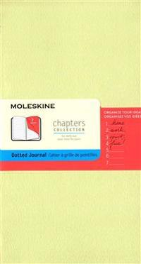 Moleskine Chapters Journal, Slim Large, Dotted, Mist Green Cover