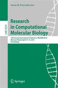 Research in Computational Molecular Biology