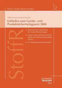 Leitfaden Zum Gerate- Und Produktsicherheitsgesetz 2004