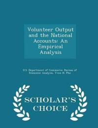 Volunteer Output and the National Accounts