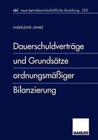 Dauerschuldvertrage Und Grundsatze Ordnungsmassiger Bilanzierung