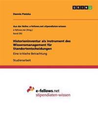 Historieninventur ALS Instrument Des Wissensmanagement Fur Standortentscheidungen