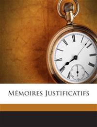 Mémoires Justificatifs