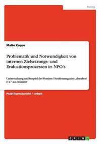 Problematik Und Notwendigkeit Von Internen Zielsetzungs- Und Evaluationsprozessen in Npo's