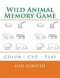 Wild Animal Memory Game: Color - Cut - Play
