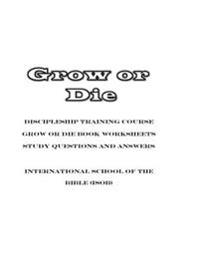Grow or Die Work Worksheets